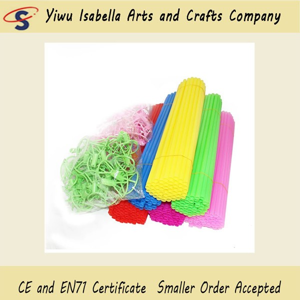 Red / Yellow / Green Balloon Stick Holder 30 CM Plastic Material With Cups