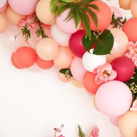 China Valentine'S Day Blush Colored Balloons Latex / Foil / Polyethylene Material supplier