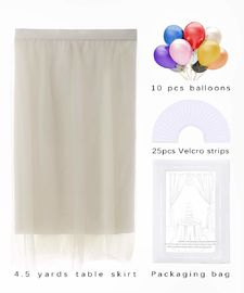 China Event Decor White Rectangle Table Skirt , Bridal Showers Dining Table Cover supplier