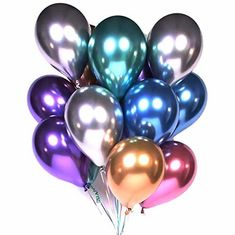 China Happy Birthday Helium Party Balloons , 12 Inch Latex Metallic Balloons supplier