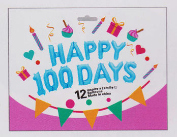 China Happy 100 Days Foil Party Balloons , Cute Letter And Number Balloons factory