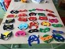China Multi Colors Masquerade Party Masks , Party Felt Superhero Mask Customized Size factory