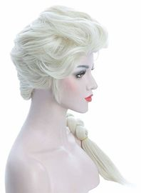 Women'S Long Beige Braided Cosplay Party Wigs Halloween Cosplay Wig For Adult