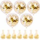 50 Pcs Gold Confetti Balloons , 12 Inch Latex Party Balloons With Confetti Dots