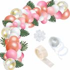 Pink Pearlescent Helium Party Balloons Arch Garland Kit Confetti Balloons