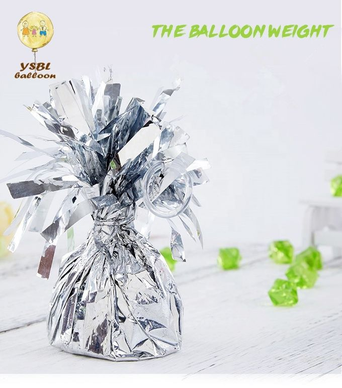 Metallic Wrapped Foil Balloon Weights , Candy Shaped Wedding Decor Accessories